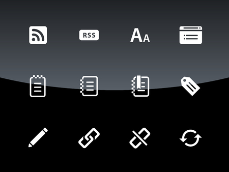 broken link: Blogger icons illustration. Illustration