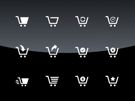 Shopping cart icons illustration. Vector