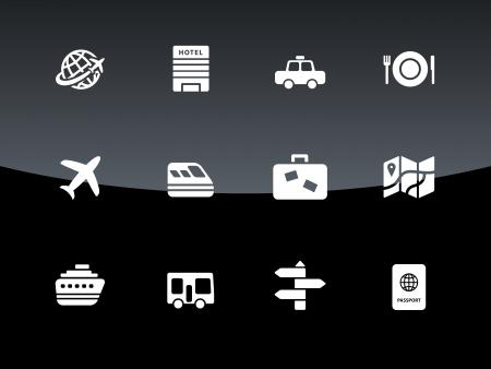 roadtrip: Travel icons illustration. Illustration