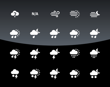 Weather icons and Additional part illustration. Vector