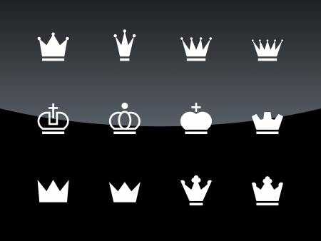 Crown icons illustration. Stock Vector - 23449463