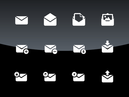 Email icons and Envelope signs for web and applications Vector