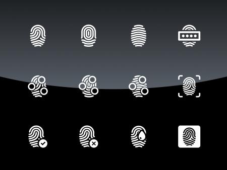 Fingerprint icons illustration.