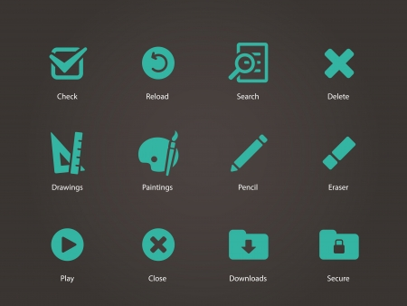 Application interface icons. Vector illustration.