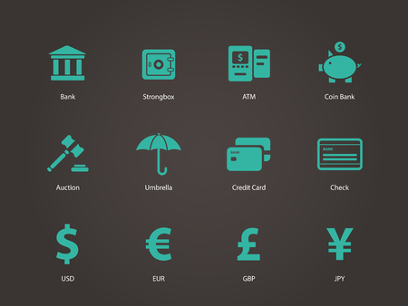 Banking icons. Vector illustration. Vector