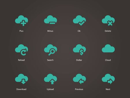 Cloud icons. Vector illustration. Vector