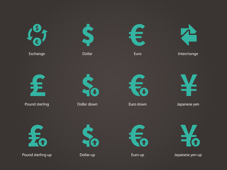 Exchange Rate icons. Vector illustration. Vector