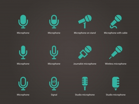Microphone icons. Vector illustration. Vector