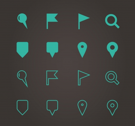 GPS and Navigation icons. Vector illustration.