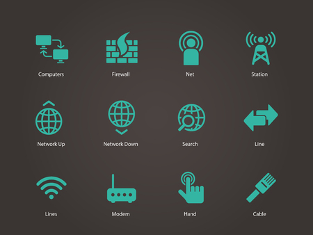 Networking icons. Vector illustration. Vector