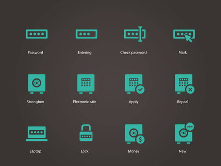 Password icons. Vector illustration. Vector