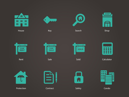 Real Estate icons. Vector illustration. Vector