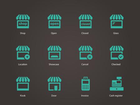 Shop icons. Vector illustration. Vector