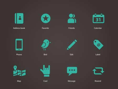 broken link: Social icons. Vector illustration.