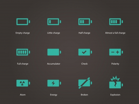Battery icons. Vector illustration. Vector