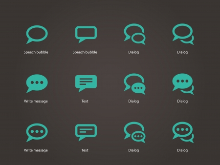 Speech bubble icons. Vector illustration. Ilustrace