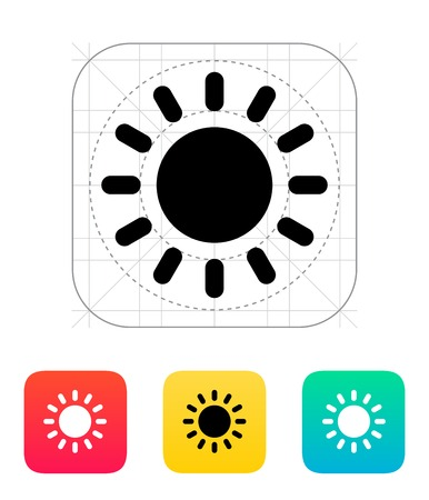 Sun weather icon. Vector illustration. Illustration