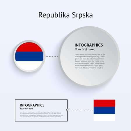 republika: Republika Srpska Country Set of Banners on white background for Infographic and Presentation. Vector illustration. Illustration