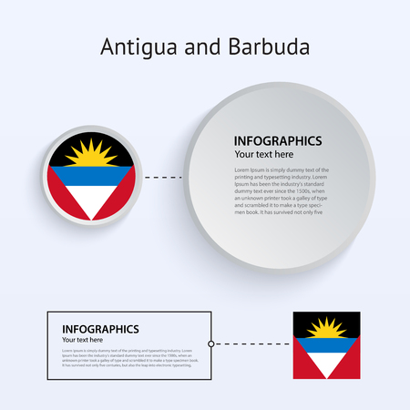 antigua: Antigua and Barbuda Country Set of Banners on white background for Infographic and Presentation. Vector illustration.