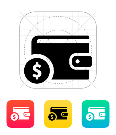 Wallet with dollar icon on white illustration. Stock Vector - 24352722