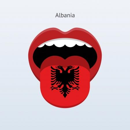 linguist: Albania Resumen ilustraci�n lengua humana.