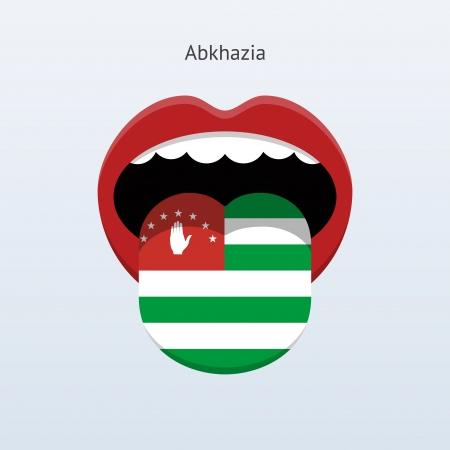 linguist: Abjasia Ilustraci�n abstracta lengua humana