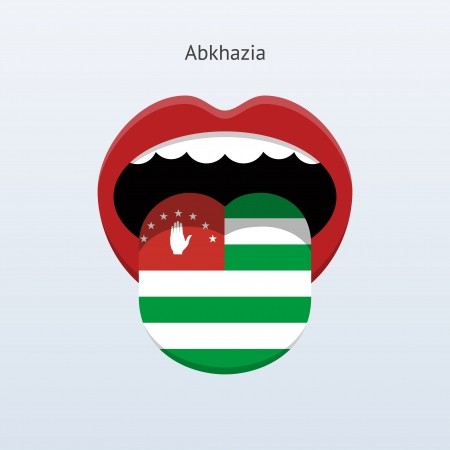 Abkhazia Abstract human tongue illustration Vector