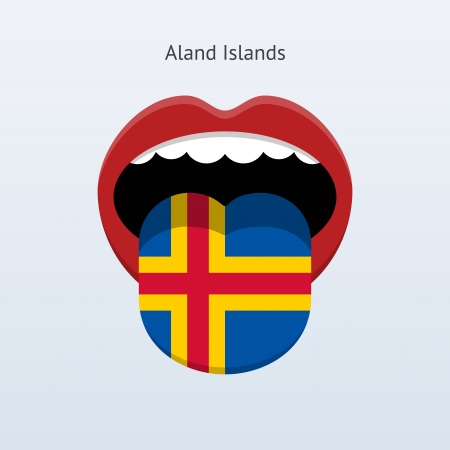 Aland Islands Abstract human tongue illustration. Vector