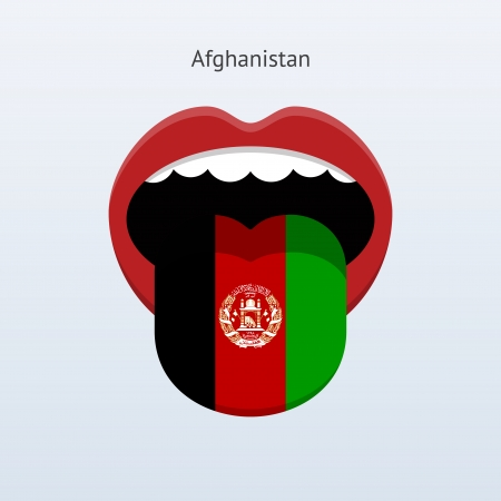 Afghanistan Abstract human tongue illustration. Vector