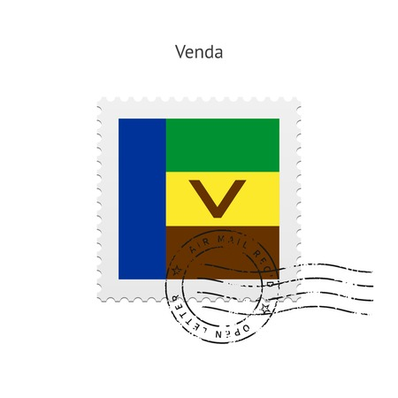 Venda Flag Postage Stamp on white illustration.