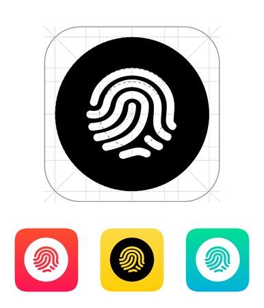 odcisk kciuka: Odcisk palca skanera ikona ilustracja. Ilustracja