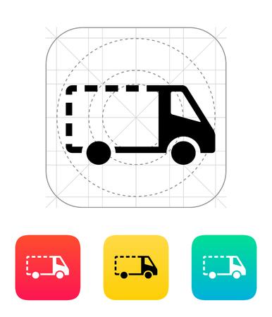 removal van: Empty delivery minibus icon. Vector illustration.