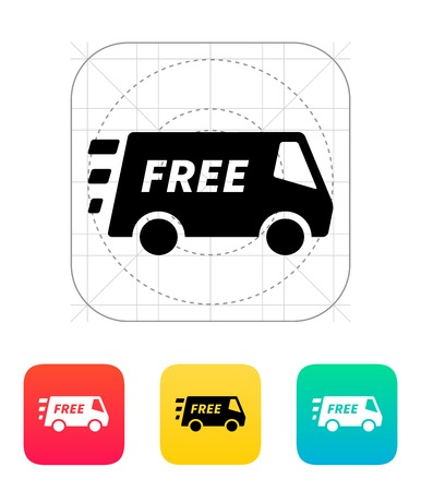 Free delivery service icon. Vector illustration.
