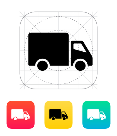 removal van: Delivery Truck icon. Vector illustration. Illustration