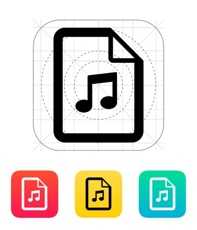 Audio file icon illustration. Vector