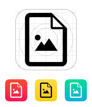 Photo file icon illustration. Vector