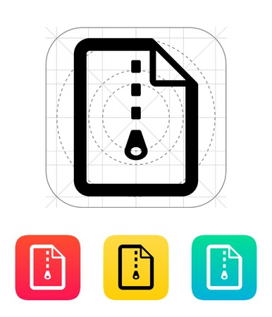 Archive file icon illustration. Vector