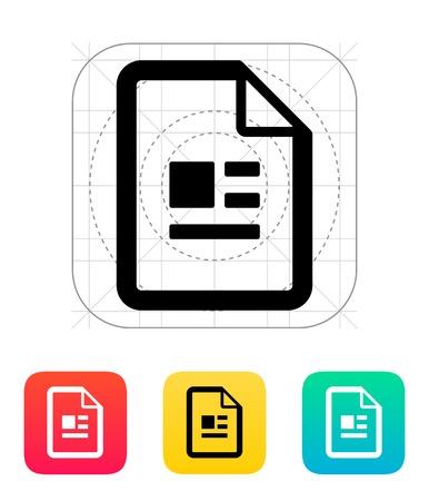 Publication file icon illustration. Illustration