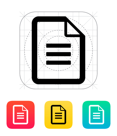 Text file icon illustration. Vector