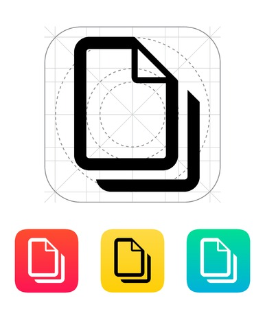 Files icon. Vector illustration. Vector