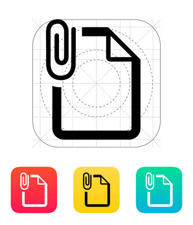 Attached file icon. Vector illustration. Vector