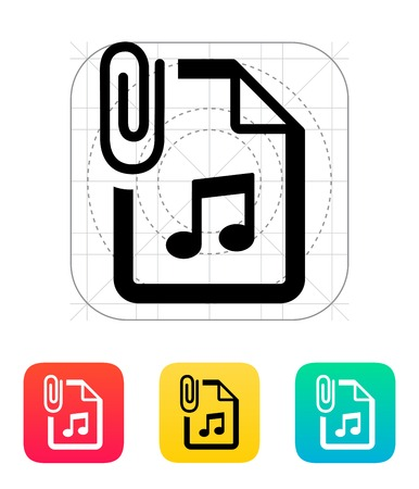 Attached Audio file icon. Vector illustration. Vector