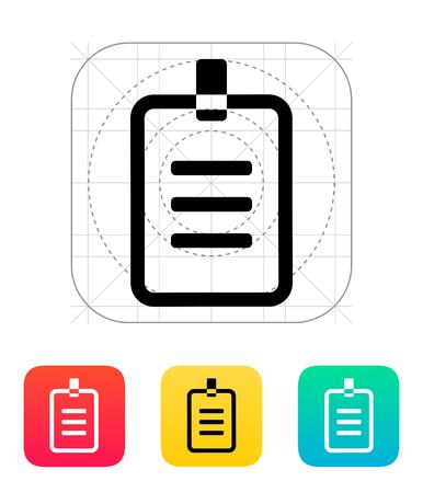 id badge: Badge icon illustration.