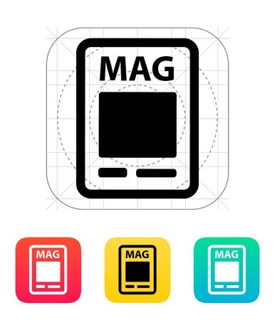 read magazine: Magazine icon illustration.