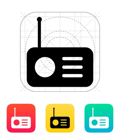fm radio: Radio icon illustration.