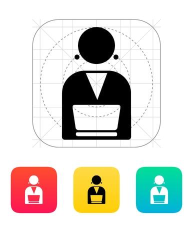 Broadcaster icon illustration. Stock Vector - 25030230