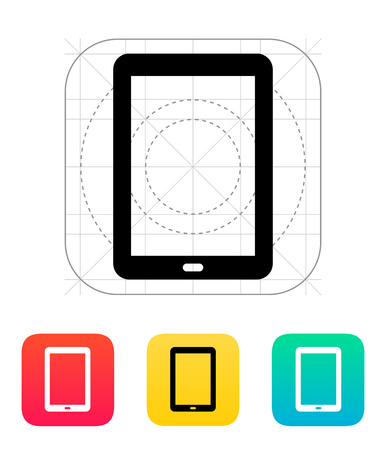 Tablet PC screen icon illustration. Vector