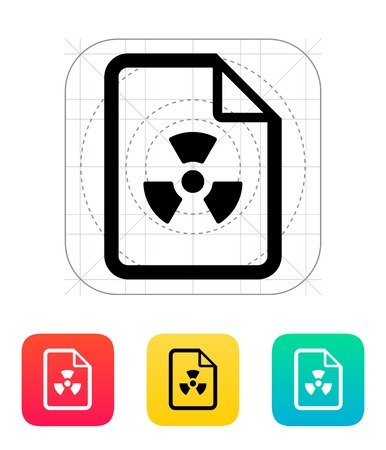 Dangerous file icon. Vector illustration. Stock Vector - 25030274