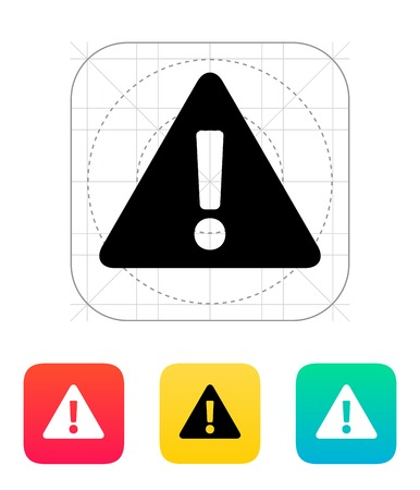 Security warning icon illustration. Illustration