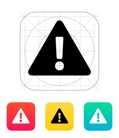 Security warning icon illustration. Illustration